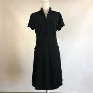 NWT Chico's Zenergy Knit Dress Black 1 M